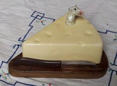 VINTAGE CHEESE BOARD CERAMIC COVER MOUSE SHABBY COUNTRY KITCHEN DRESSER 1950s | eBay
