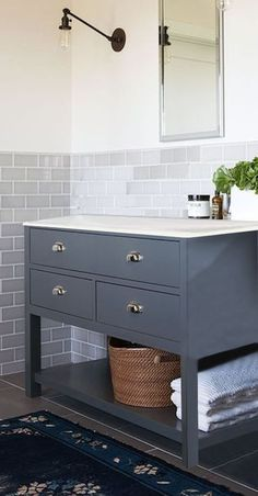 Painted any colour Vanity Washstand 80cm wide drawer Bathroom Cabinet Unit | eBay