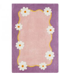 Pretty in Pink Lila Purple and Light Pink Area Rug