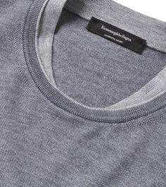 Discover the latest Ermenegildo Zegna menswear collection. Mode Streetwear, Ss16, Fashion Details, Knitwear, Polo T Shirts, Men Sweater, Mens Fashion, Sewing, Knitting