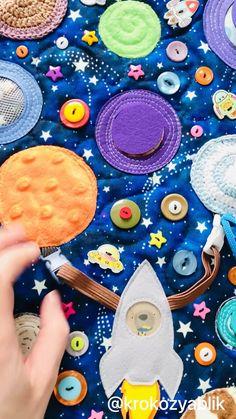 Preschool Learning Activities, Sensory Activities, Infant Activities, Sensory Book, Baby Sensory, Activity Mat, Space Toys, Felt Quiet Books, Infants