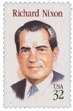 Richard M Nixon 1995 - U. presidents on U. postage stamps - Wikipedia, the free encyclopedia Old Stamps, Rare Stamps, Vintage Stamps, American Presidents, Us Presidents, Republican Presidents, American History, Commemorative Stamps, Postage Stamp Art