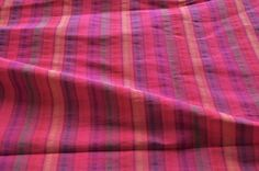 Top quality Hot pink Tafeta Shot silk Rich Cotton by VedahDesigns