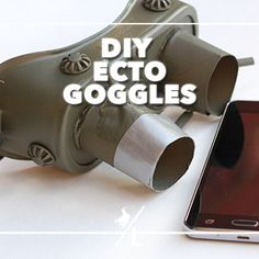 DIY ecto goggles #catchmoredata #ad #ghostbusters