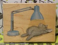 House Mouse Happy Hoppers Stamp THE SPOT LIGHT (Hop It) RARE Stampabilities #C37
