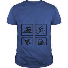 I Love Swim Bike Run Drink Shirts & Tees