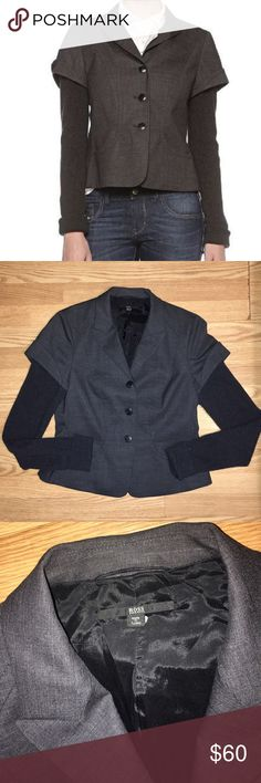 Hugo Boss Jacomina Blazer Size 12 in great condition, 97% virgin wool, very cute Hugo Boss Jackets & Coats Blazers