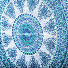 Hippie Tapestries Wall Hanging  Indian Mandala by Labhanshi
