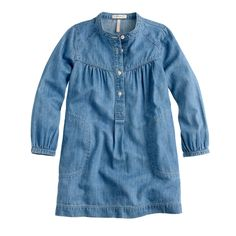 Girls' chambray shirtdress : everyday dresses | J.Crew