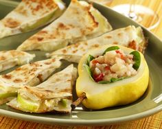 Sweeten up the party with this Pear and Brie Quesadilla!