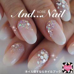 Nail image Kobe ★ and nail ★ Okaba 900,084 white gradation spring soft gel hand