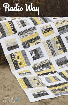 Radio Way Quilt Pattern Jaybird Quilts 4 Sizs Jelly Roll Friendly | eBay