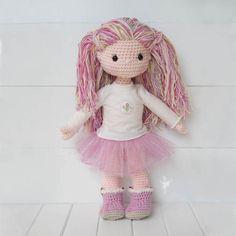 Molly Dolly la muñeca Amigurumi en 18 juguete de la felpa