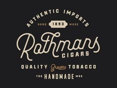 "Rothmans Logo - Made with ""Pathways"" Typeface"