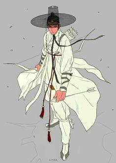 Hanbok illustration, inspiration for my fantasy series Nine Tails which is based on Korean myth Character Concept, Character Art, Concept Art, Character Illustration, Illustration Art, Korean Art, Korean Traditional, Character Design Inspiration, Drawing Reference