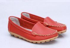genuine Leather Shoes Slip-on Ballet women Flats