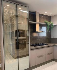 Fantastic kitchen style are offered on our website. Kitchen Room Design, Kitchen Cabinet Design, Modern Kitchen Design, Home Decor Kitchen, Interior Design Living Room, Kitchen Cabinets Models, Glass Kitchen Cabinets, Kitchen Models, Design Moderne