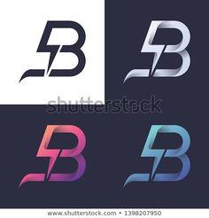 B letter logo with bolt/lightning / electric / power in 4 colors Lightning Drawing, Lightning Bolt Logo, Logo Design Trends, Brand Identity Design, Icon Design, Typography Logo, Logo Branding, Lettering, Logos