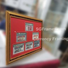Looking to frame up your Currency Collection? Here we go! We understand that the size of the currency different and we measure them to customize the Border cut window. You can choose the color that suits your choice. Various option and designs available and we hope pick your perfect one.  #CurrencyFraming #Currency #MatMount #MatBoard #BorderFrame #SGFrames #SGFramesChinaTown #SGFramesToaPayoh #Framing #GeneralFraming #PosterFraming #PaintingFraming #PictureFraming #SingaporeFrameMaker Industrial Park, Chinese Art, Singapore, Abstract Art, Window, Suits, Mirror, Canvas, Frame