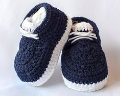 Baby boy sneakers Baby boy shoes Crochet baby by HandmadebyInese