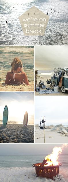 We're on Summer Break... beach camping inspiration #somethingturquoise