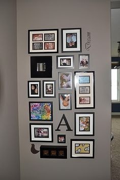 Gallery Wall like the layout-but why are the pics upside down?