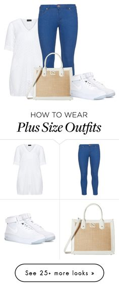 """Plus Size - Casual"" by kurvy-katie on Polyvore featuring Samoon, Zizzi, Emma Fox and NIKE"