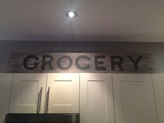 DIY Painted Grocery Sign - Storefront Life
