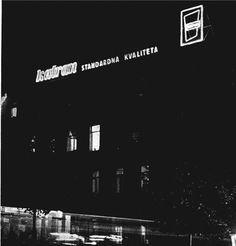 Neon display for Croatian tar manufacturer Katran, Ozeha 1957