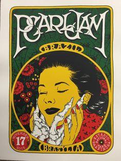 Broken Fingaz Pearl Jam Brasilia, Brazil Poster For Tonight