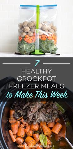 Kelly from New Leaf Wellness has a great list of 7 Healthy Crockpot Freezer Meals to Make This Week. Her free download includes grocery lists and recipes for all of the meals.