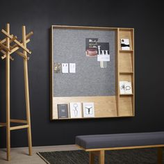 Wall-mounted display rack / periodicals SLOPE by L. Pettersson & L. Notman KARL ANDERSSON