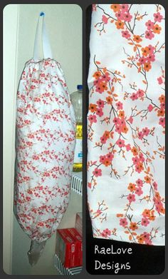 The Grocery Bag Holder Cherry blossoms white by RaeLove on Etsy, $12.00