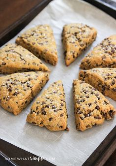 These pumpkin chocolate chip scones are sure to be one of your new fall favorites!