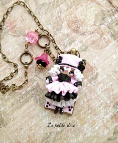 winter doll neckalce by lapetitedeco on Etsy