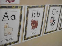 FREE Animal Posters with correct letter formation.