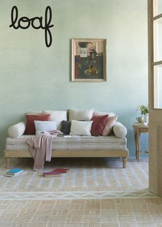 If 'click clack' sofabeds aren't your bag, try this widget-free friend. Just slide out the solid oak legs and you'll be ready to snooze! Interior Design Living Room, Living Room Decor, Bedroom Decor, Bedroom Ideas, Daybed, Sofa Bed, Spare Room, New Room, Solid Oak
