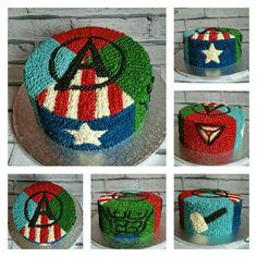 Avengers buttercream cake                                                                                                                                                     Más