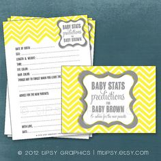 Chevron Baby Stats Predictions for Baby and Advice for by MTipsy, $16.00