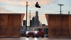 "Tony Hawk x Guerlain Chicherit x MINI John Cooper Works ""Night Riders"" Promo Video Mini John Cooper Works, Tony Hawk, Fighter Jets, Cool Pictures, Surfing, Bmw, Night, World, Cars"
