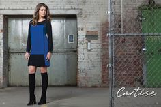 Royal blue dress (520071). #fallfashion #musthave #Cartise #women #apparel #coloryourlife www.cartise.ca