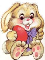 Cute easter bunny with red egg on postcard - Illustrated by Zsuzsa Füzesi Hungarian illustrator Cute Easter Bunny, Cute Clipart, Cute Animal Pictures, Cute Images, Digi Stamps, Fabric Painting, Coloring Pages, Cute Animals, Teddy Bear
