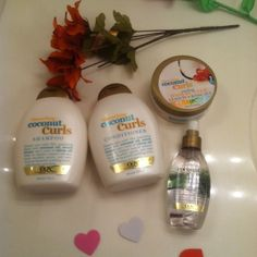 New quenching coconut OGX curls bundle The newest Ogx For curls quenching coconut milk conditioner & shampoo with hair mask & spray in coconut oil perfect for curls NEW from OGX organics get 4 full size items   13 fl oz both shampoo & conditioner  6.6 oz hair butter leave in or rinse out  4oz  weightless hydrating oil  4 items VERY FIRM   Get all thats listed here brand new Sephora Makeup