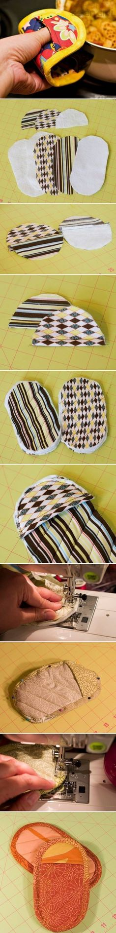 How to make Nice Pot Holder step by step DIY instructions- small enough to actually hold onto the pan without poking in the pie...