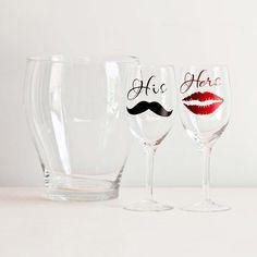 His & Her Glasses & Ice Bucket