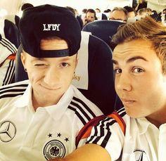 Marco Reus and Mario Gotze selfie lol