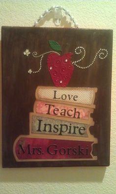Custom Teacher's Canvas by cibyirene on Etsy,
