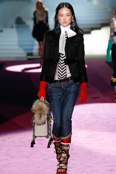 Dsquared² Fall 2015 Ready-to-Wear Fashion Show - Caroline Trentini