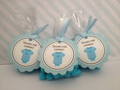 pre-made thank you shower tags | Baby Boy Shower Thank You Tags #ohbaby | Gift Ideas