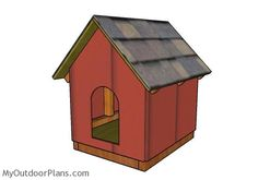 This step by step diy project is about dog house shed for small dogs. I have designed this small dog house, so you can shelter your favorite pet in proper conditions. Double Dog House, Large Dog House Plans, Duck House Plans, Small Dog House, Build A Dog House, Cool Dog Houses, Play Houses, Large Dogs, Small Dogs